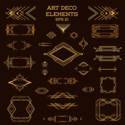 Art deco Elemente